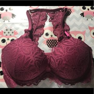 Victoria's Secret PINK Racerback Lace Push up Bra